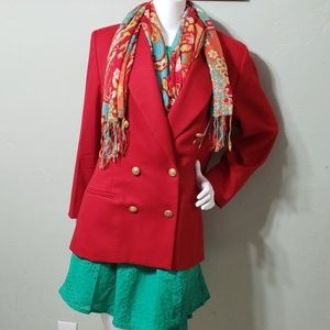 PENDLETON red wool double breasted jacket